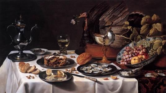 Still_Life_with_Turkey_Pie_1627_Pieter_Claesz