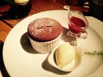 热巧克力蛋糕